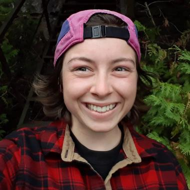 Carys Owen, a member of the compost crew