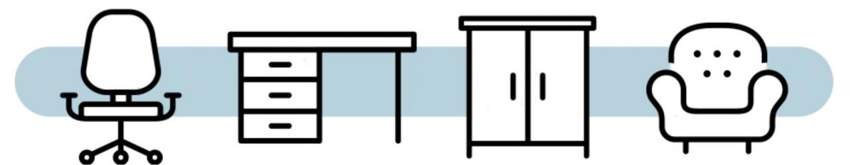 A clipart banner for the furniture swap program