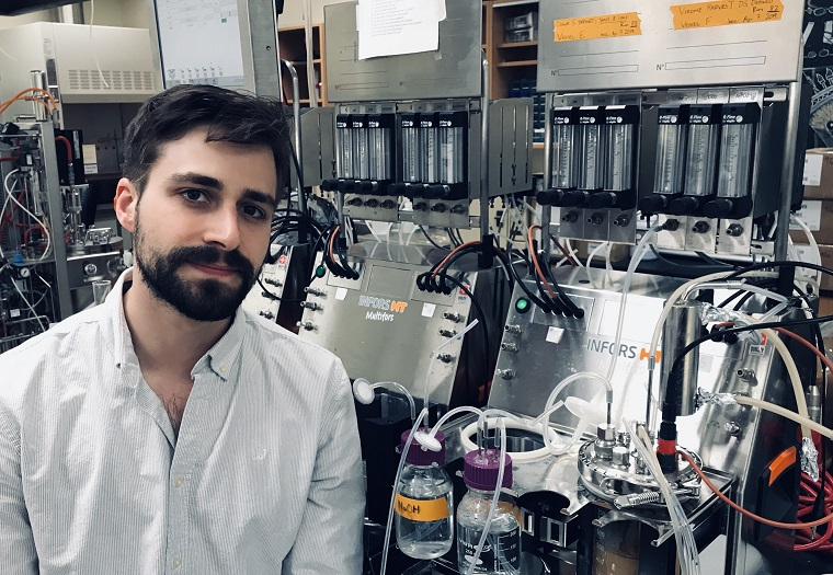 Recent PhD graduate and Nubiyota research scientist Christian Carlucci (photo courtesy of C. Carlucci)