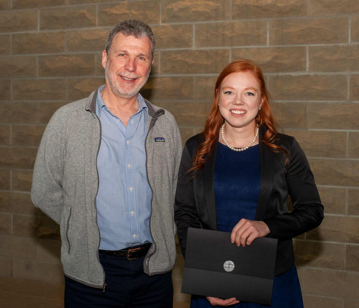 Prof. Brian Husband and Stacey Forbes