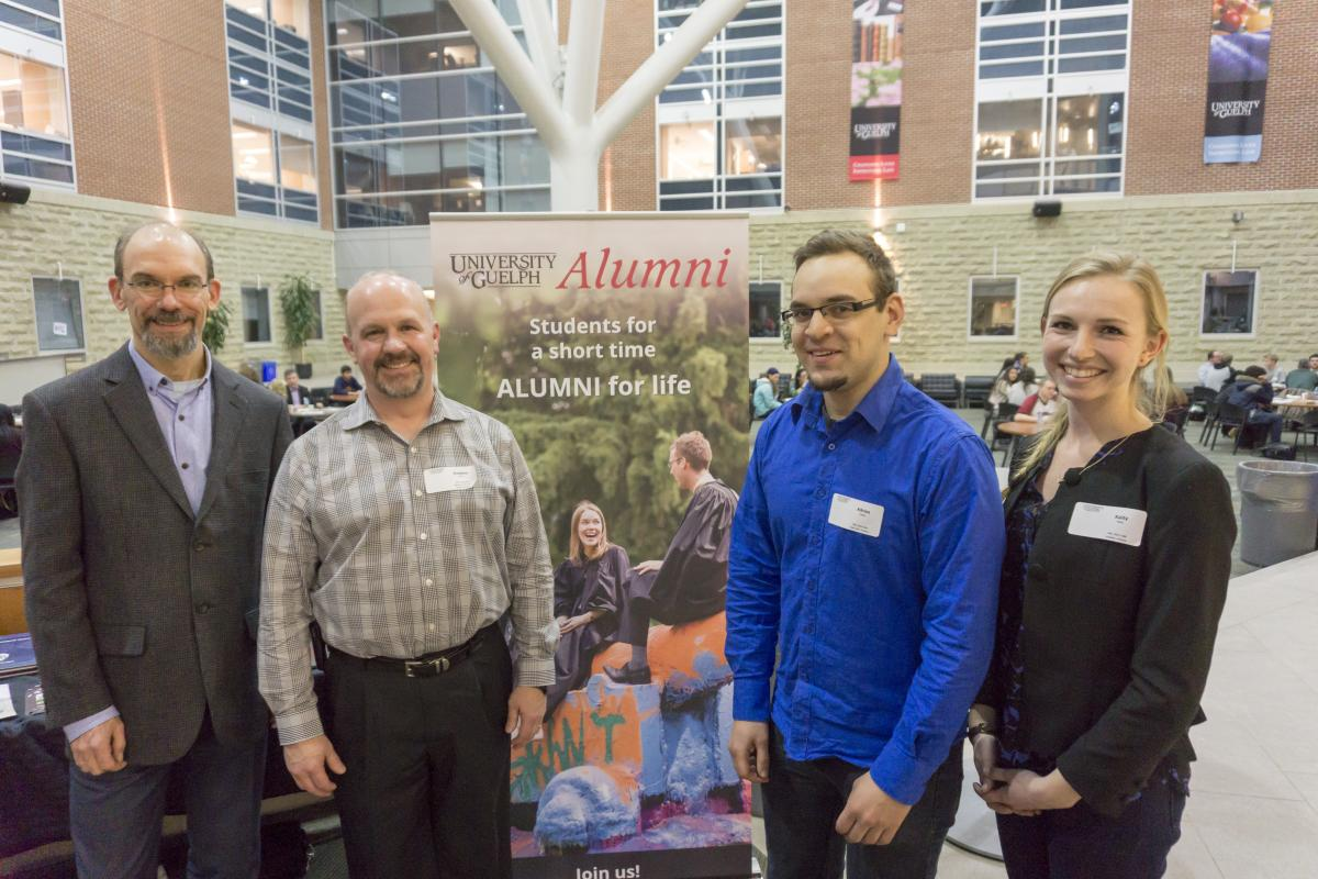Alumni at the Summerlee Science Complex Atrium