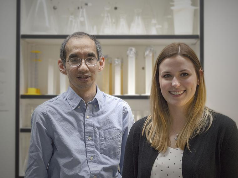 Professor Stephen Seah and Stephanie Gilbert (photo by K. White)