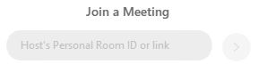 Join a Meeting field image