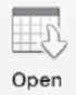Open button in Outlook