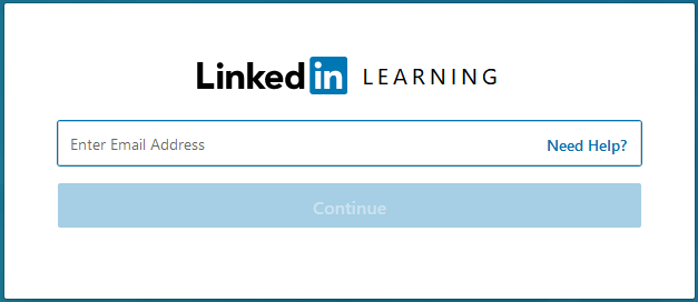 LinkedIn Learning organization email entry form
