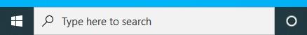 Windows start bar search field