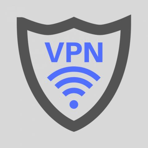 VPN shield symbol or logo