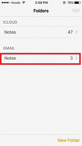 office 365 folders not showing on iphone