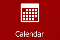 Microsoft Outlook Calendar logo and a link to the Calendar WebPage on the CCS Website