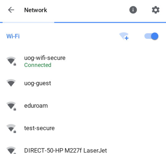 uog-wifi-secure is not successfully connected!