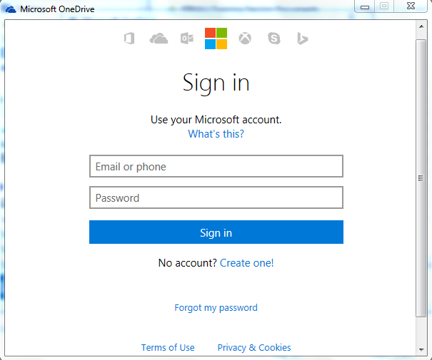 Visualization of signing into your personal microsoft account
