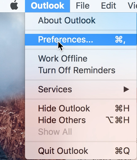 Outlook 2016 Mac Configuration | Computing & Communications Services