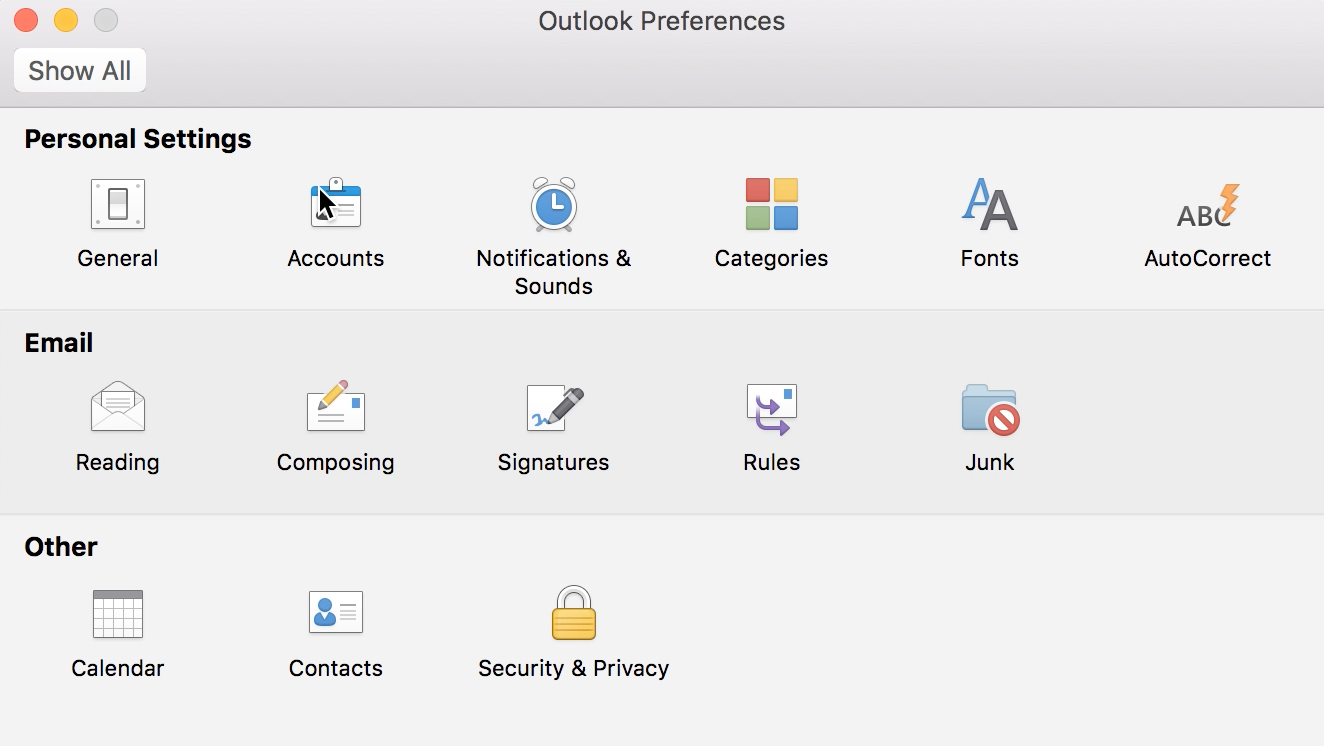 Outlook 2016 Mac Configuration | Computing & Communications