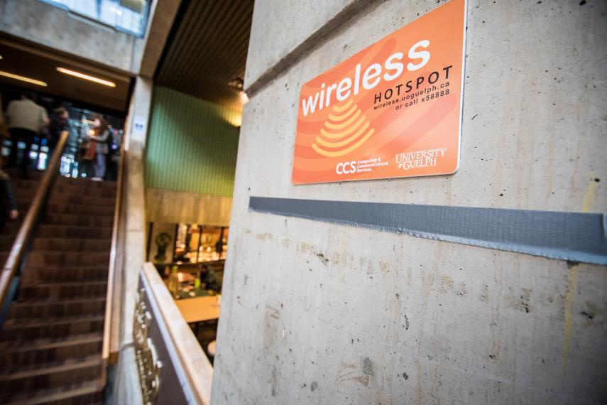 Image of U of G wireless hotspot