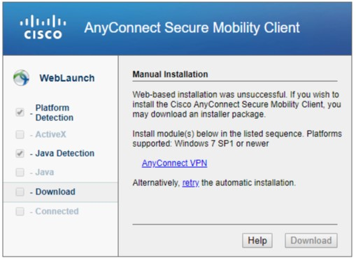 VPN AnyConnect Installation Instructions for Windows