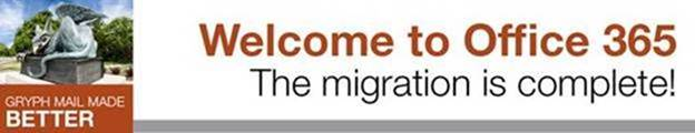Welcome to Office 365. The migration is complete!