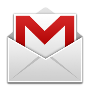 Google apps icon of letter in envelope. The letter has a capital 'M' printed on it.