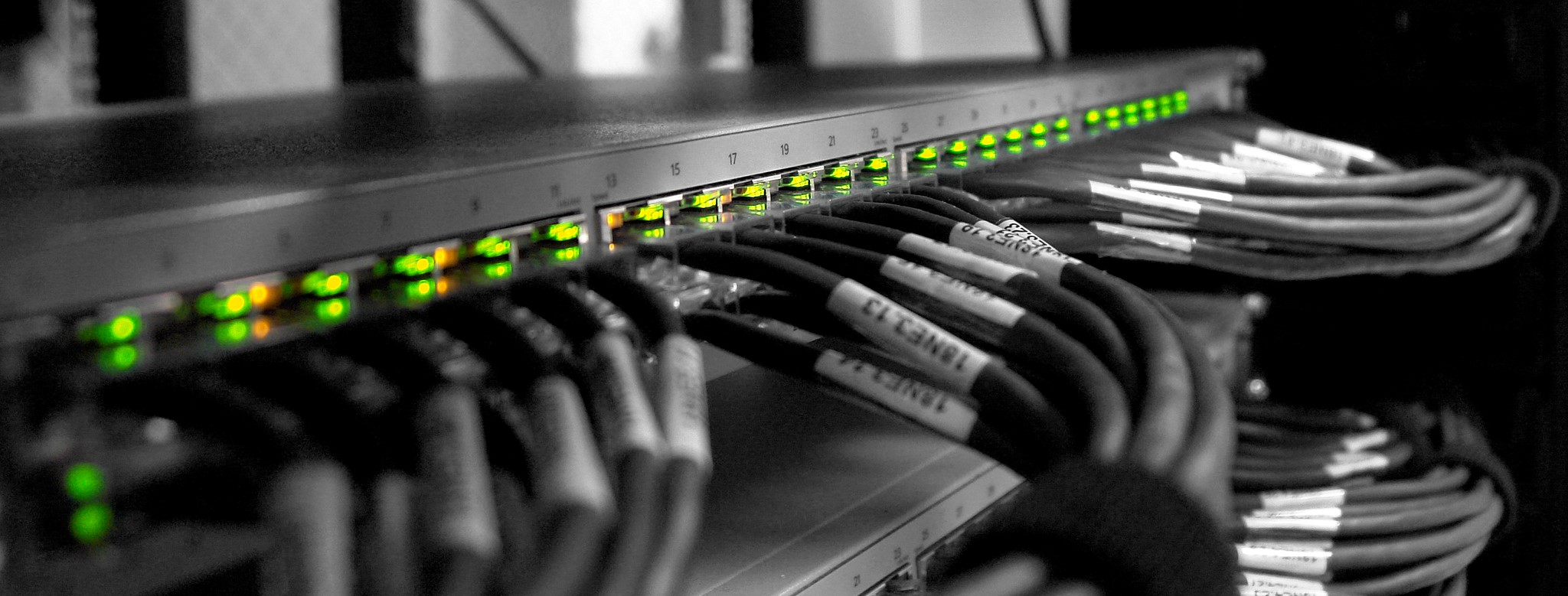 Network switch and cables
