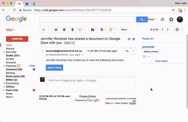 Screen Capture of Phishing Email