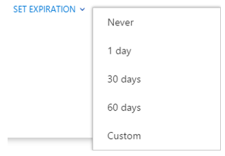 Visualization of options for expiration dates