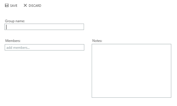 Visualization of creating a contact list