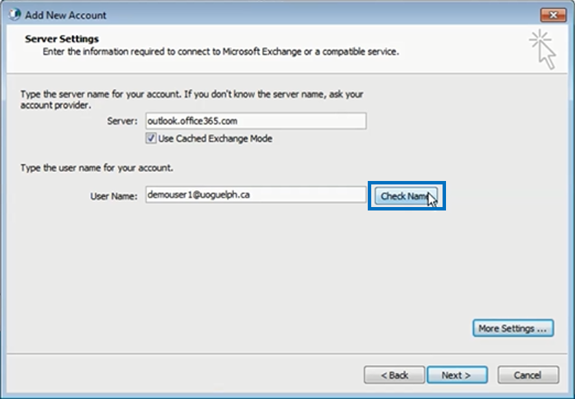 Outlook 2010 configuration computing communications - Office 365 server settings for outlook 2010 ...