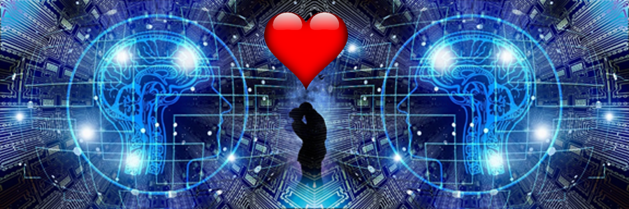 Couple in Love with AI Computer Heads