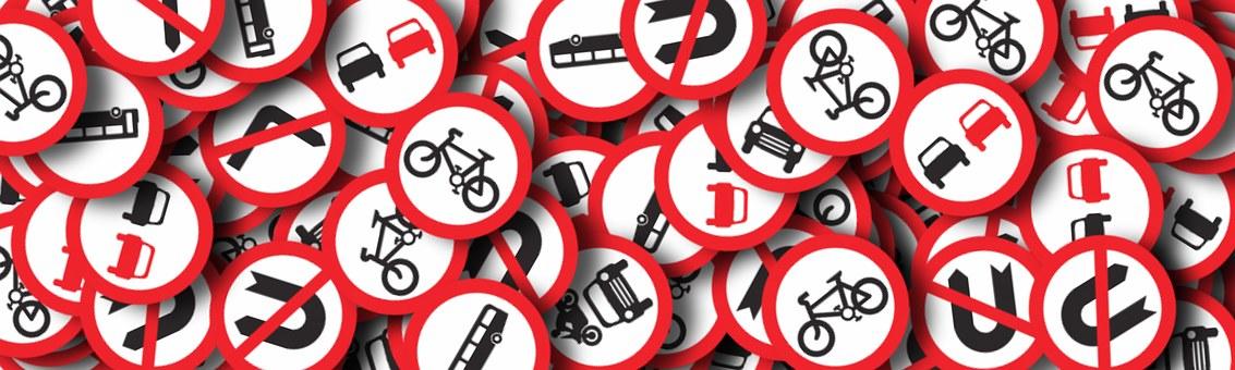 Traffic signs signalling no! no! no!