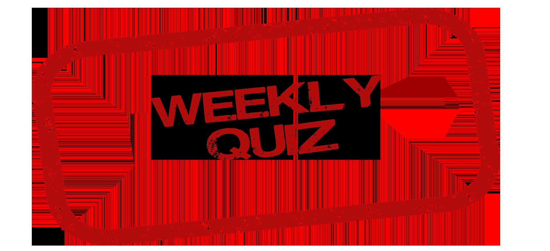 Weekly Quiz