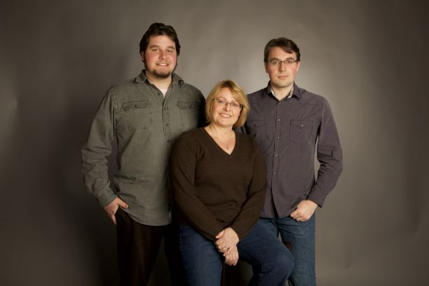 Tina Widowski with her sons Evan and Colin
