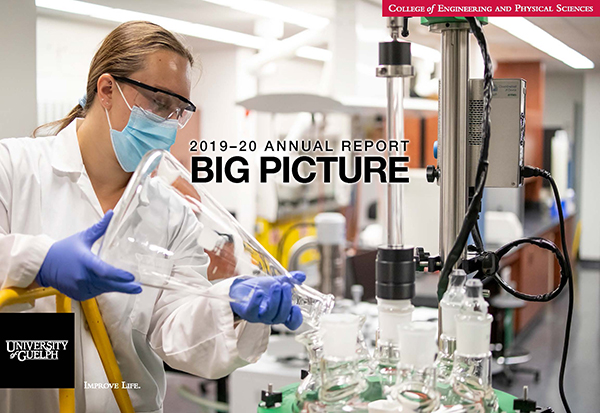 Big Picture. Image shows student Jenna Rotondi working in a lab on essential COVID-19 research