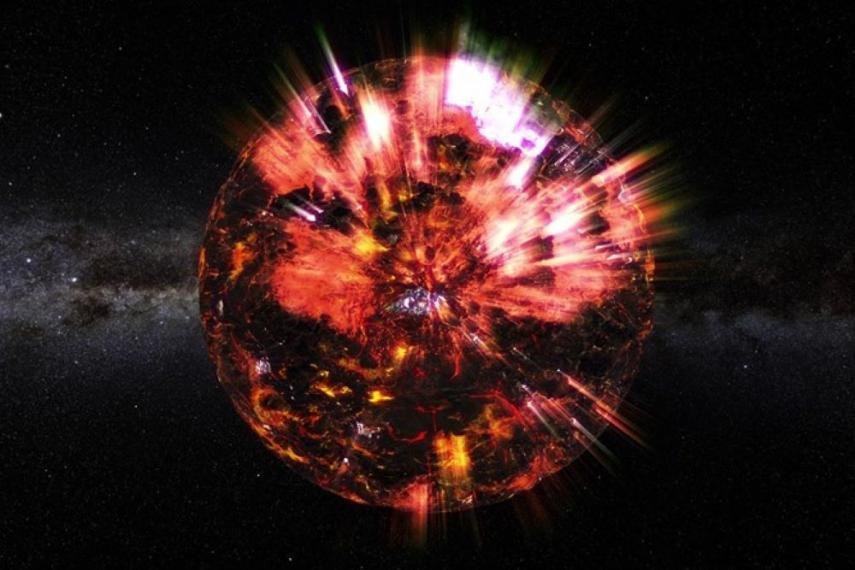 Image of a neutron star in space.