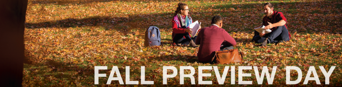 Fall preview day graphic banner