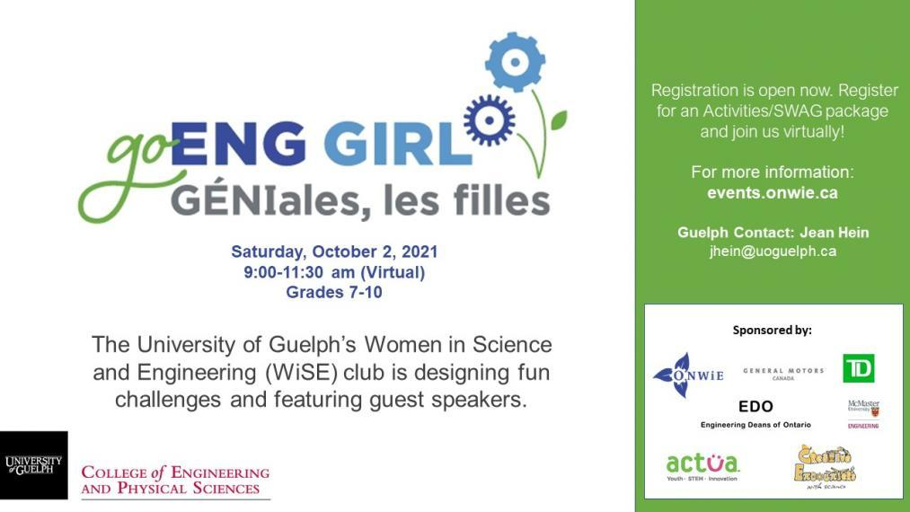 Promotional image for Go-ENG-Girl event.
