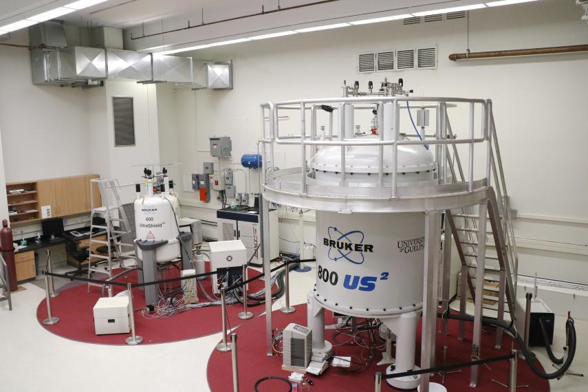 Lab set up with a large NMR system