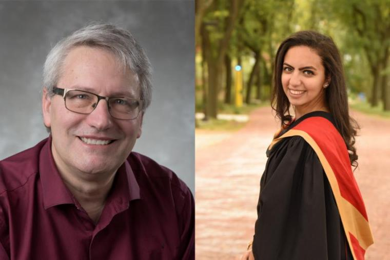 Side-by-side images of Paul Rowntree (left) and Mirna Ghattas (right)