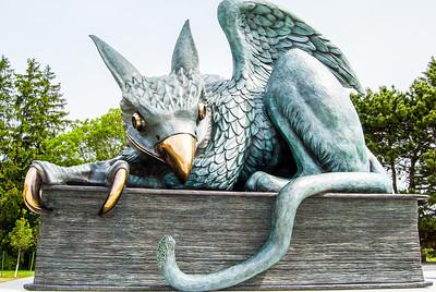 Guelph Gryphon statue