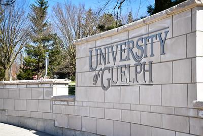 Image of sign at front of U of G campus