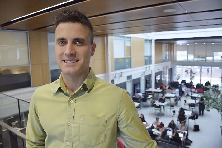 Image of Mario Martinez with Adams Atrium in background