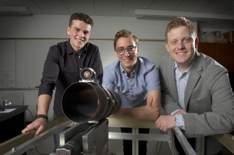 Master's student Andrew Newton, former master's student Andrew Lataford and Prof. Andrew Gadsden