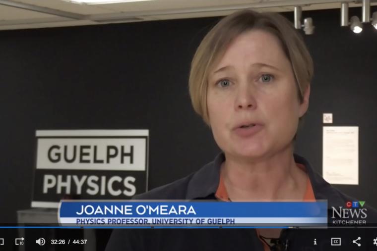 Prof. Joanne O'Meara speaks to CTV News