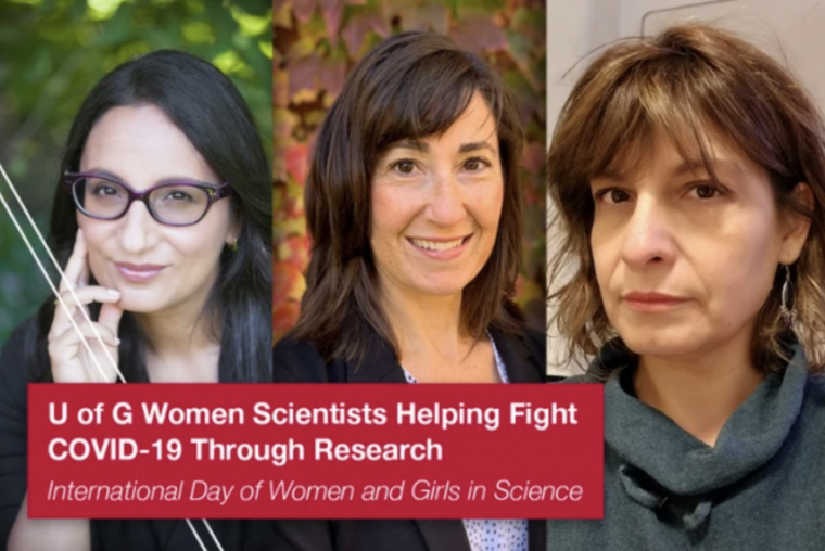 Composite of headshots of three women scientists