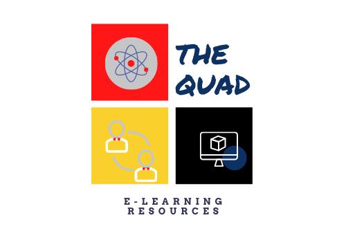 Screenshot of The Quad logo and pillars