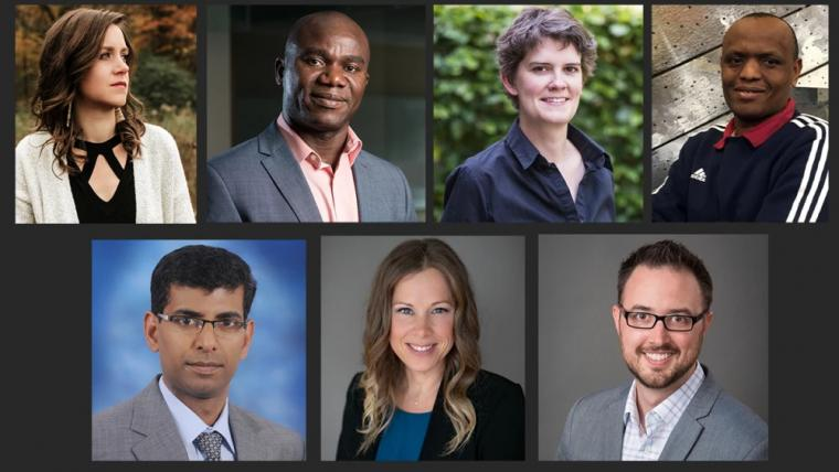 Headshots of all of the researchers who were given Research Excellence Awards.