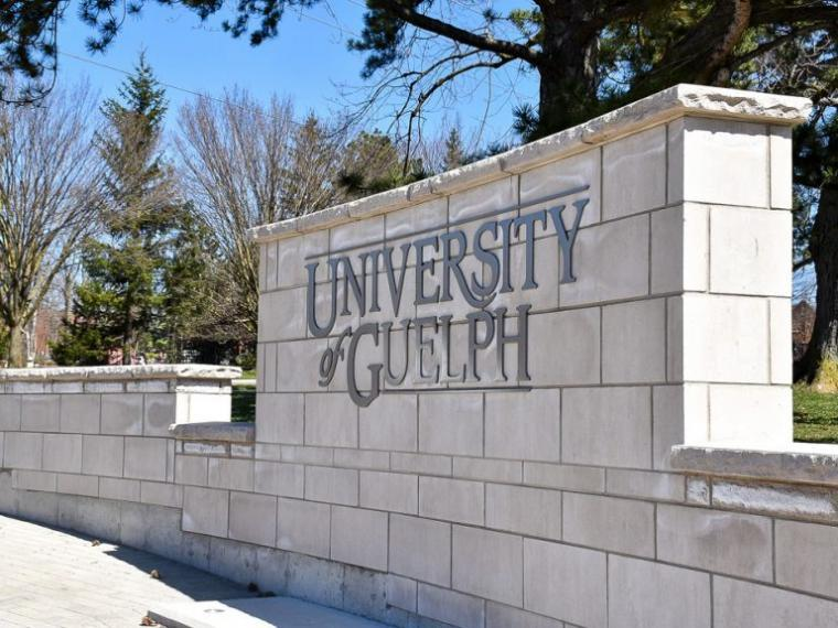 U of G sign on campus