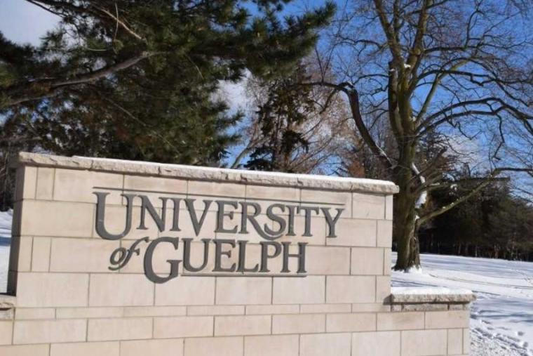University of Guelph sign on campus