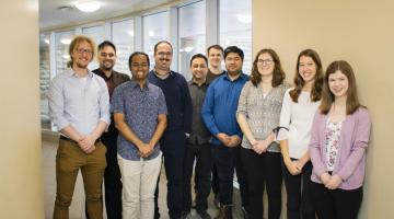 Group shot of the graduate student participants in the 2020 3MT competition.