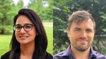 Joint image of headshots of Fatima and Ryan