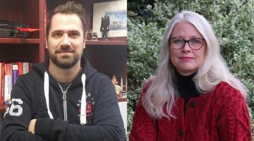 Image of Petros Spachos, left, and Andrea Bradford, right.