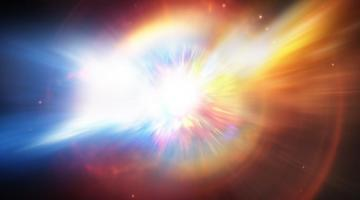 Colourful star explosion